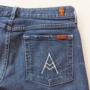 7 For All Mankind A Pocket White Stitch Jeans